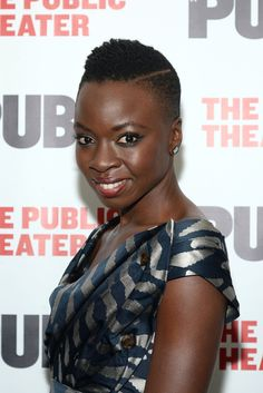 """Playwright Danai Gurira attends """"Eclipsed"""" Opening Night at The Public Theater on October 14, 2015 in New York City."""