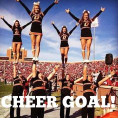 Oklahoma State Large Co-Ed Back-to-Back National Champs Oklahoma State University, Oklahoma State Cowboys, Cheer Stunts, Cheer Dance, Cheer Costumes, Male Cheerleaders, Cheer Quotes, Cheer Sayings, College Cheerleading