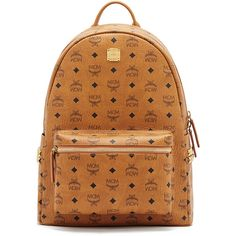 MCM Stark Side Stud Medium Backpack ($845) ❤ liked on Polyvore featuring men's fashion, men's bags, men's backpacks, white and mens canvas backpack