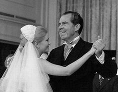 Tricia dancing with her father President Richard Nixon at the wedding reception