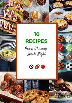 Go Team! 10 Recipes For A Winning Sports Night from Pretty Mayhem (and thanks for including my eggplant pizza!)