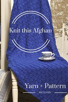 If you can knit and purl, then you can make this heirloom-worthy afghan! The kit includes seven skeins of Universal Uptown Worsted yarn, as well as the pattern you need to bring this beautiful afghan to life.