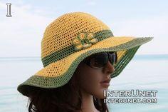 Crochet summer hat - Step-by-step crochet instructions - Video tutorial                                                                                                                                                                                 Más