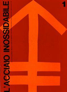 Ilio Negri, artwork for annual report L'acciaio inossidabile, 1963. Via aiap.it