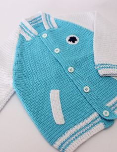 Chaqueta de crochet para bebe - Requetechulo.com