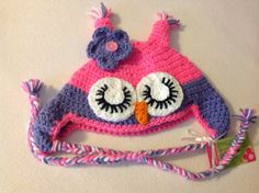Owl Hat (Ready To Ship) 4-8 year old on Etsy, $25.00