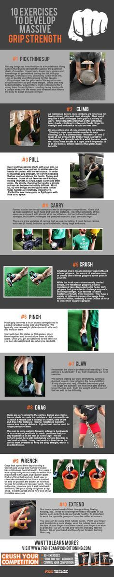 Whether you're fighting for wrist control or securing a submission, grip strength is essential for wrestlers, mma fighters and bjj players. A strong grip gives you an advantage in the cage and on the mat. Here are 10 grip strength exercises that will help you develop stronger hands, forearm and grip for your match. #infographic