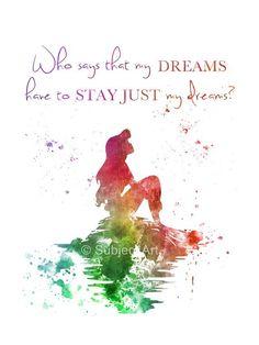 Ariel The Little Mermaid zitieren KUNSTDRUCK von SubjectArt auf Etsy ★ please like our page on http://facebook.com/southfloridah2o