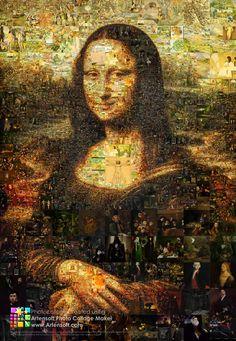 """Коллаж """"Мона Лиза"""": Описание, параметры программы для создания, детальный просмотр, видео, выбор разрешения для сохранения"""