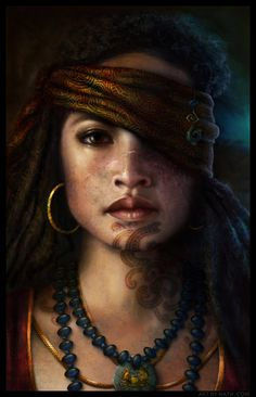 Maori Pirate Princess, Nathascha Friis on ArtStation at https://www.artstation.com/artwork/maori-pirate-princess