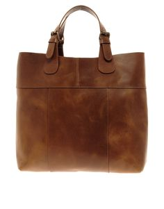 ASOS Pieces Premium Naysa Leather Shopper