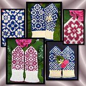 Ravelry: Barbro flower mittens pattern by JennyPenny