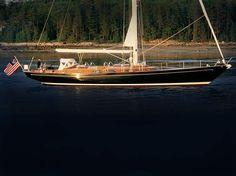 .a beautiful classic yacht.