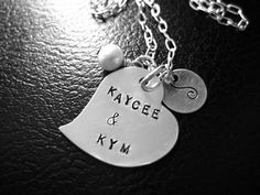 Sterling Silver Hand Stamped Necklace- A Full Heart