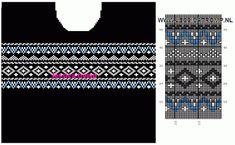 MES FAVORIS TRICOT-CROCHET: Le jacquard Knitting Charts, Knitting Stitches, Rubrics, Knit Patterns, Free Pattern, Embroidery, Crafts, Wool, Template
