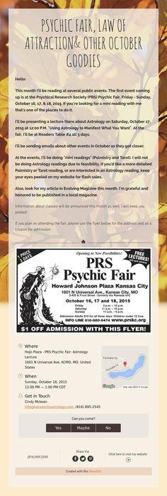 Kansas City Psychic Fair 2020.20 Best Kc Astrology Tarot Newsletters Images In 2019