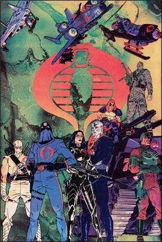 Joe's Cobra Enemy by Michael Golden Comic Book Covers, Comic Books Art, Comic Art, Thundercats, Nostalgia, Cartoon Clip, Cobra Commander, Morning Cartoon, Gi Joe Cobra