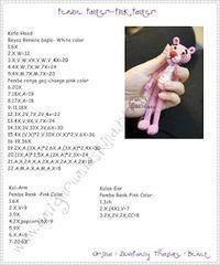 Amigurumi # For Love: # Translation-Amigurumi – crochet pattern Amigurumi Tutorial, Crochet Patterns Amigurumi, Amigurumi Doll, Mini Amigurumi, Panther, Pink Panter, Amigurumi For Beginners, Crochet Accessories, Free Crochet