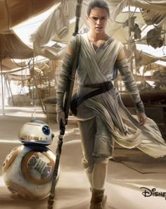 Rey and BB-8 - Star Wars: The Force Awakens