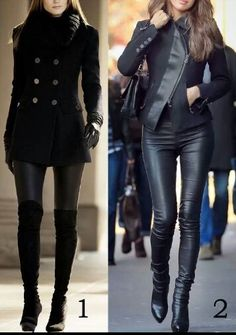 Wish i was 6 feet tall and skinny to pull this off but i love leather on leather.