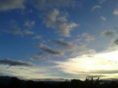 Con éste cielo se despide San Agustín hoy. 7agosto2013
