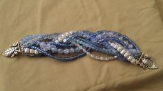 Multi-strand Blue Bead Bracelet
