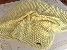 How to Make Raspberry Braid Model? Knitting pattern from head to toe . Baby Knitting Patterns, Free Baby Blanket Patterns, Knitting For Kids, Knitted Baby Blankets, Baby Girl Blankets, Baby Blanket Crochet, Crochet Baby, Popcorn Stitch, Super Easy