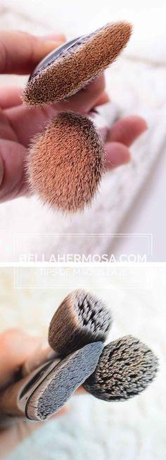 limpiar brochas para maquillaje