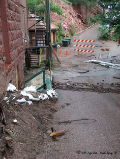 Rising waters in September 2013 in Manitou Springs, CO and throughout thw state copyright 2013 Angie White
