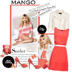 Fashion in Motion with MANGO & Kate Moss, created by martinitime on Polyvore