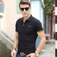 Camisa Polo Benjamin Camisa Polo, Robert Wood, Moda Casual, Polo T Shirts, Essie, Men Fashion, Gentleman, Shirt Designs, Menswear