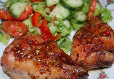 Курица, запечённая в медово-горчичном маринаде : Вторые блюда