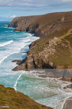 Stock Photo : Cornwall Coastline and Wheal Coates Tin Mine, UK Engine House, England Map, Pumping, Cornwall, Royalty Free Images, Engineering, Stock Photos, Water, Outdoor