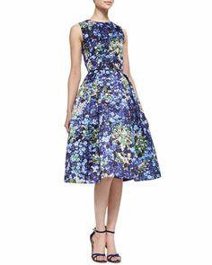 Astere Sleeveless Jewel & Floral Full-Skirted Dress by Mary Katrantzou at Bergdorf Goodman.