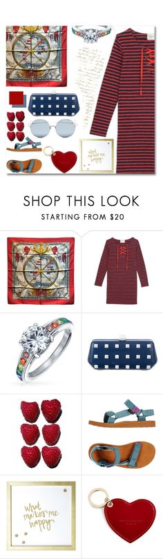 """Cute and Casual Maritime Style"" by solfrid-holte-johansen ❤ liked on Polyvore featuring Hermès, Bling Jewelry, Rebecca Minkoff, Teva, MikeyLins by Petal Lane, Aspinal of London and For Art's Sake"