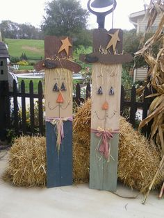 Country scarecrows my BFF Becky is going to make for me. Because we are BFFs. And she's awesome.