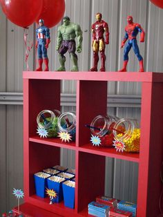 What a fun superhero birthday party! See more party ideas at CatchMyParty.com!
