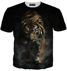 Creeping Tiger Hoodie - 3D Pullover Hoodies and Clothing