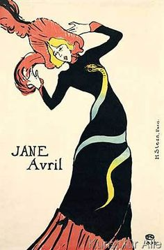 Henri de Toulouse-Lautrec - Poster for Jane Avril, 1899