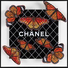 Butterfly Background, Butterfly Art, Butterflies, Chanel Decor, Chanel Art, Doodle 2, Hotline Bling, Art Of Beauty, Luxury Logo