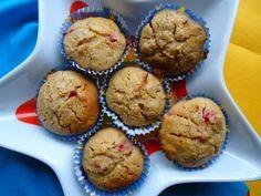 Muffins integrais com framboesas