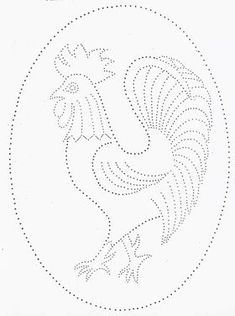 Tin Punch Patterns :: P 1061 Rooster 12 x 16 or 18 x 24 - Pierced Tin Designs