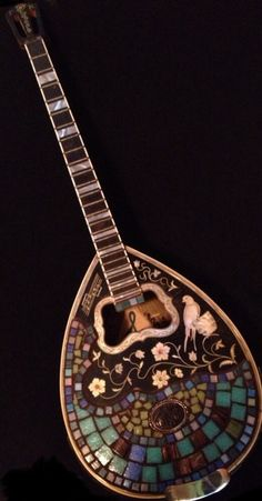 Renaissance Greek Bouzouki Mosaic by RiverCrestVisionary on Etsy, $775.00