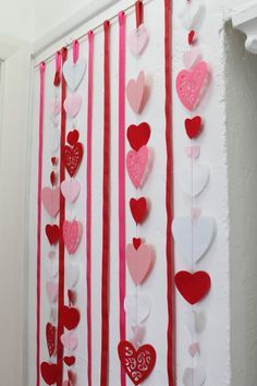 hanging hearts backdrop
