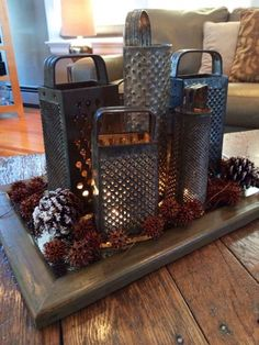 Cheese Grater Centerpiece # Cheese Grater Centerpiece # The post Cheese Grater Centerpiece # appeared first on Kerzen ideen. Cheese Grater Centerpiece # Cheese Grater Centerpiece # The post Cheese Grater Centerpiece # Country Decor, Rustic Decor, Farmhouse Decor, Farmhouse Lighting, Primitive Christmas, Rustic Christmas, Deco Cafe, Cheese Grater, Diy Furniture