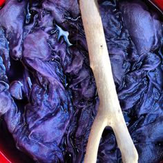 black bean dye, cold water extraction....
