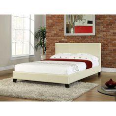 Studio Stratus Upholstered Platform Bed - White - Platform Beds at Simply Platform Beds