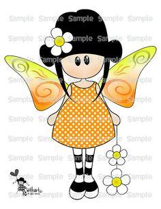Spring butterfly Nina dolls 0376 clip art set images por Withart