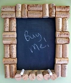 Recycled corks.  We made a bunch of hot plates with corks but this is awesome too!