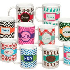 Our designer mugs are just one of our many  personalized, unique, high quality products. Get more info about becoming a My Pan Party Consultant to sell these products and make big profits! #mypanparty #coffee #personalizedgifts #love